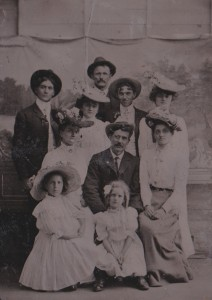 Group portrait late 19c tintype