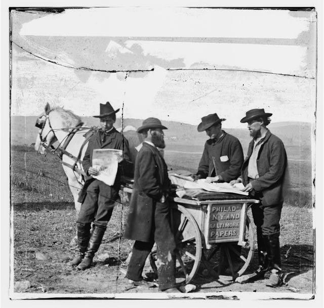 Civil War-era newspaper vendor