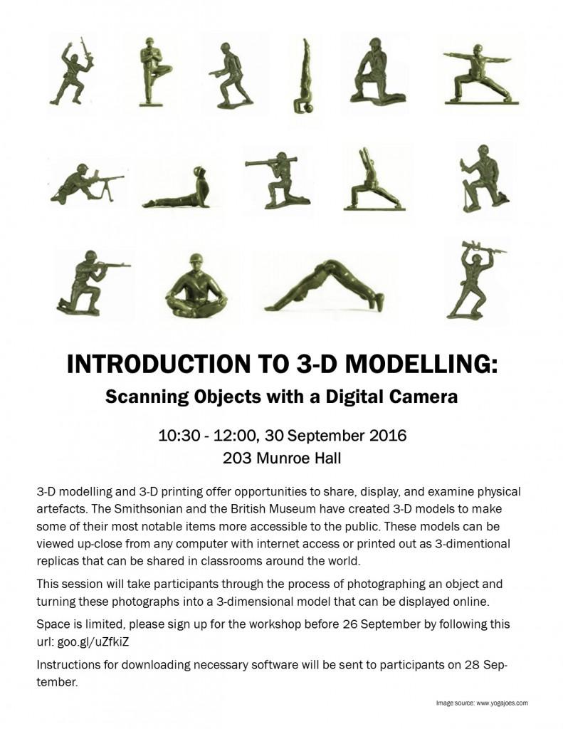 3D modeling workshop