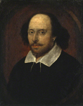Attributed to John Taylor, William Shakespeare, ca. 1610, National Portrait Gallery, London