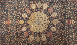 Iranian (Safavid), Ardabil Carpet (detail), 1539-1540, Los Angeles County Museum of Art