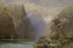 John Gully, Milford Sound, 1883, watercolor, Museum of New Zealand Te Papa Tongarewa, Wellington