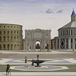 Fra Carnevale (?), Ideal City (detail), ca. 1480-1484, Walters Art Museum, Baltimore (artwork and digital image both in the public domain)