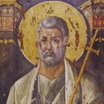 Byzantine, Saint Peter the Apostle (detail), 6th century, Monastery of Saint Catherine, Mount Sinai (photo © The Sinai Icon Collection, Princeton University)