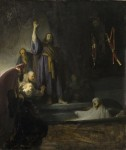 Rembrandt, Raising of Lazarus, circa 1630-1632, Los Angeles County Museum of Art