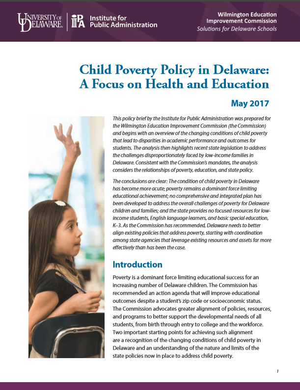 Photo of Child Poverty Brief Cover