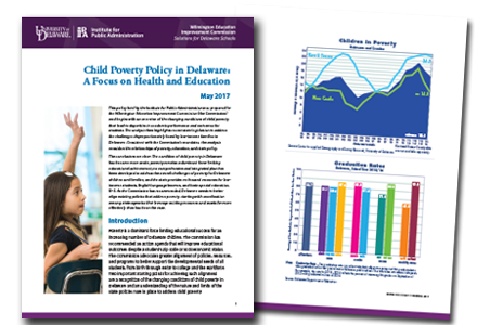 Cover and inside page of Child Poverty Policy Brief