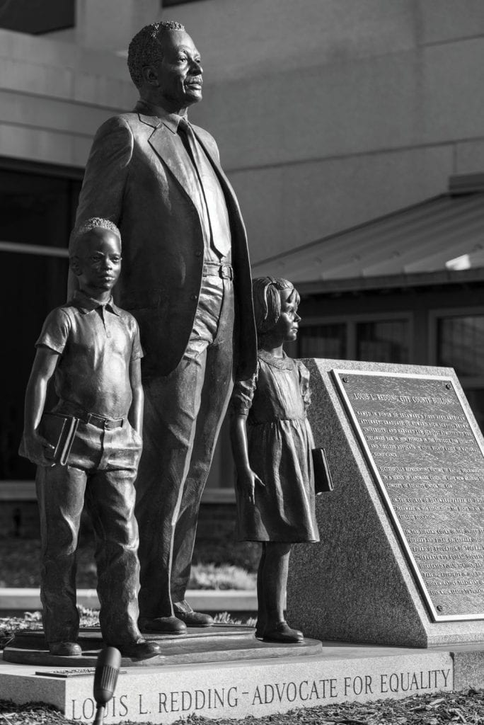 Statue of Lois L. Redding, advocate for equality