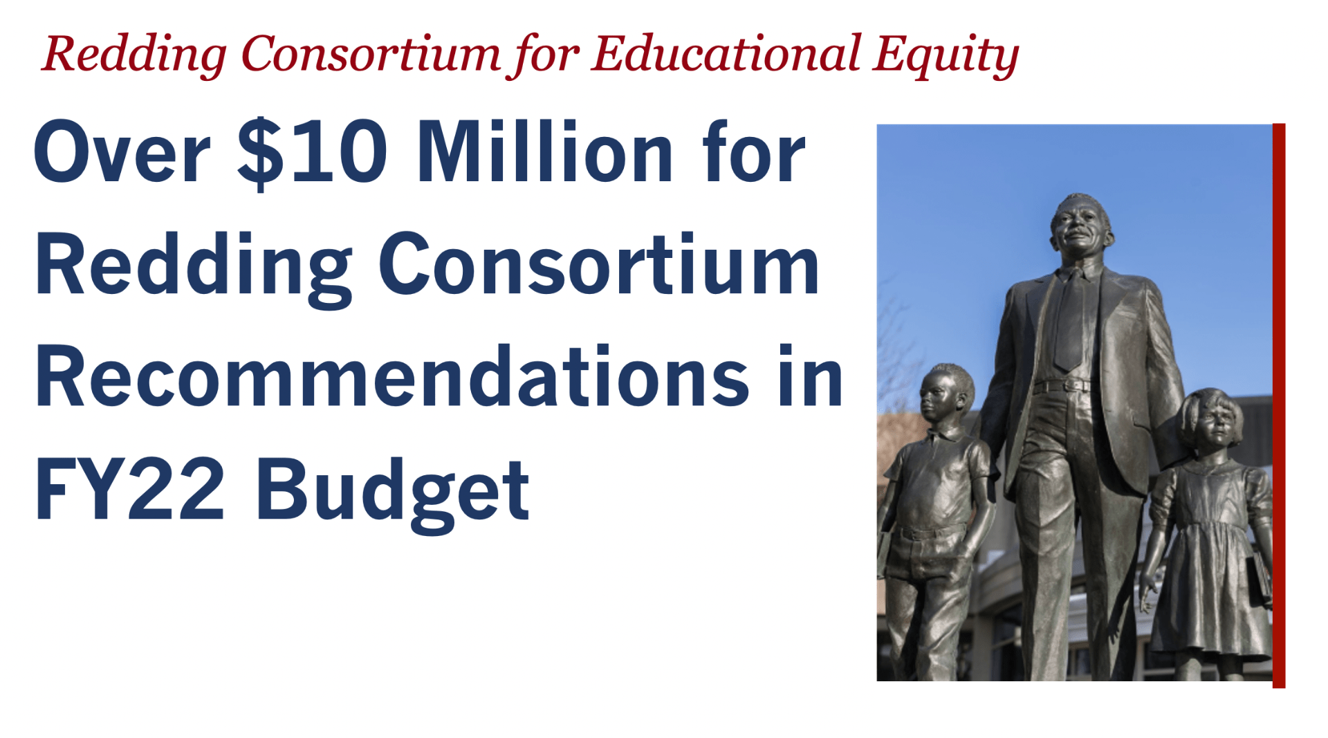 Over $10 Million for Redding Consortium Recommendations is FY22 Budget