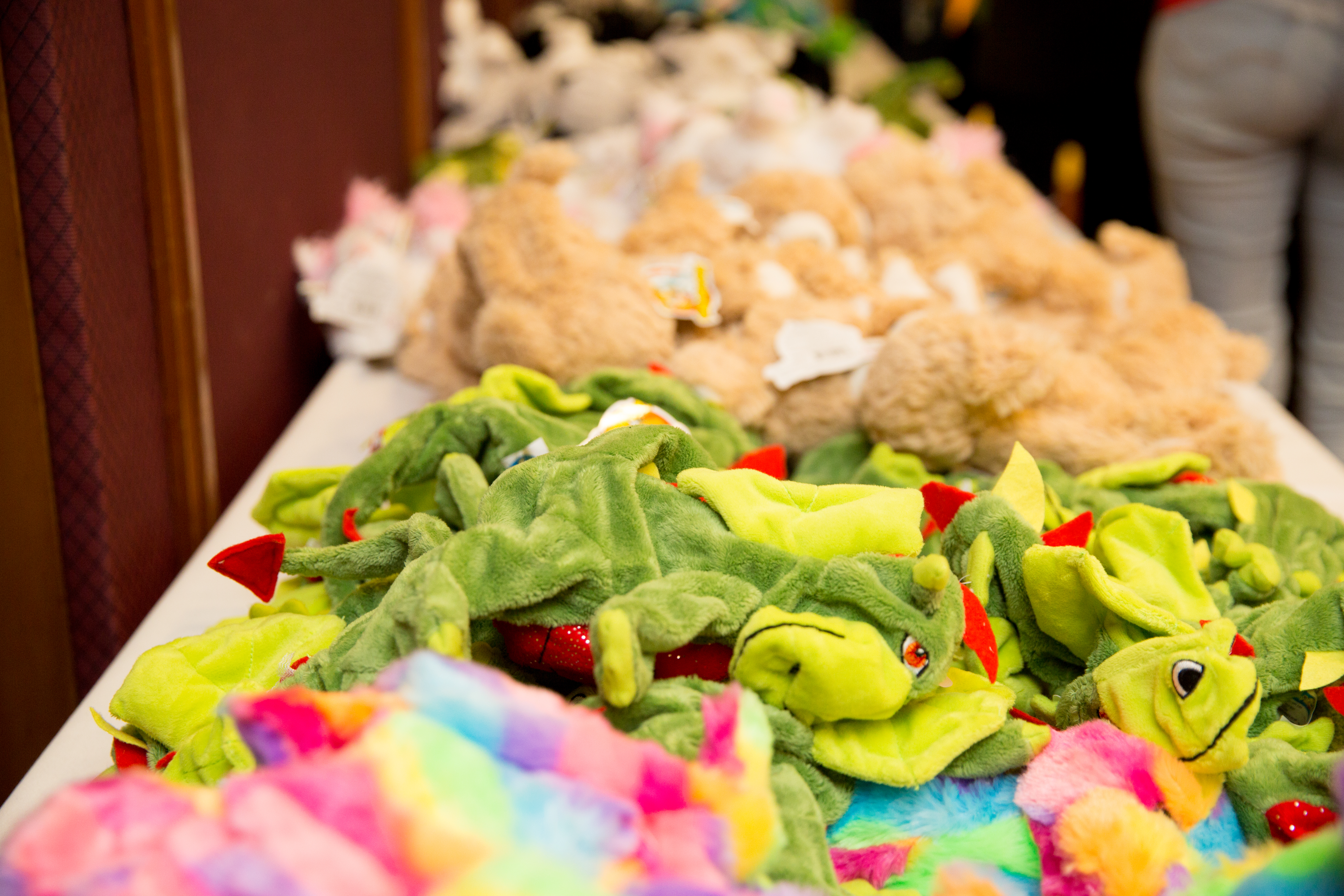 Stuffed animals (waiting to be filled) from Shamrock Fest