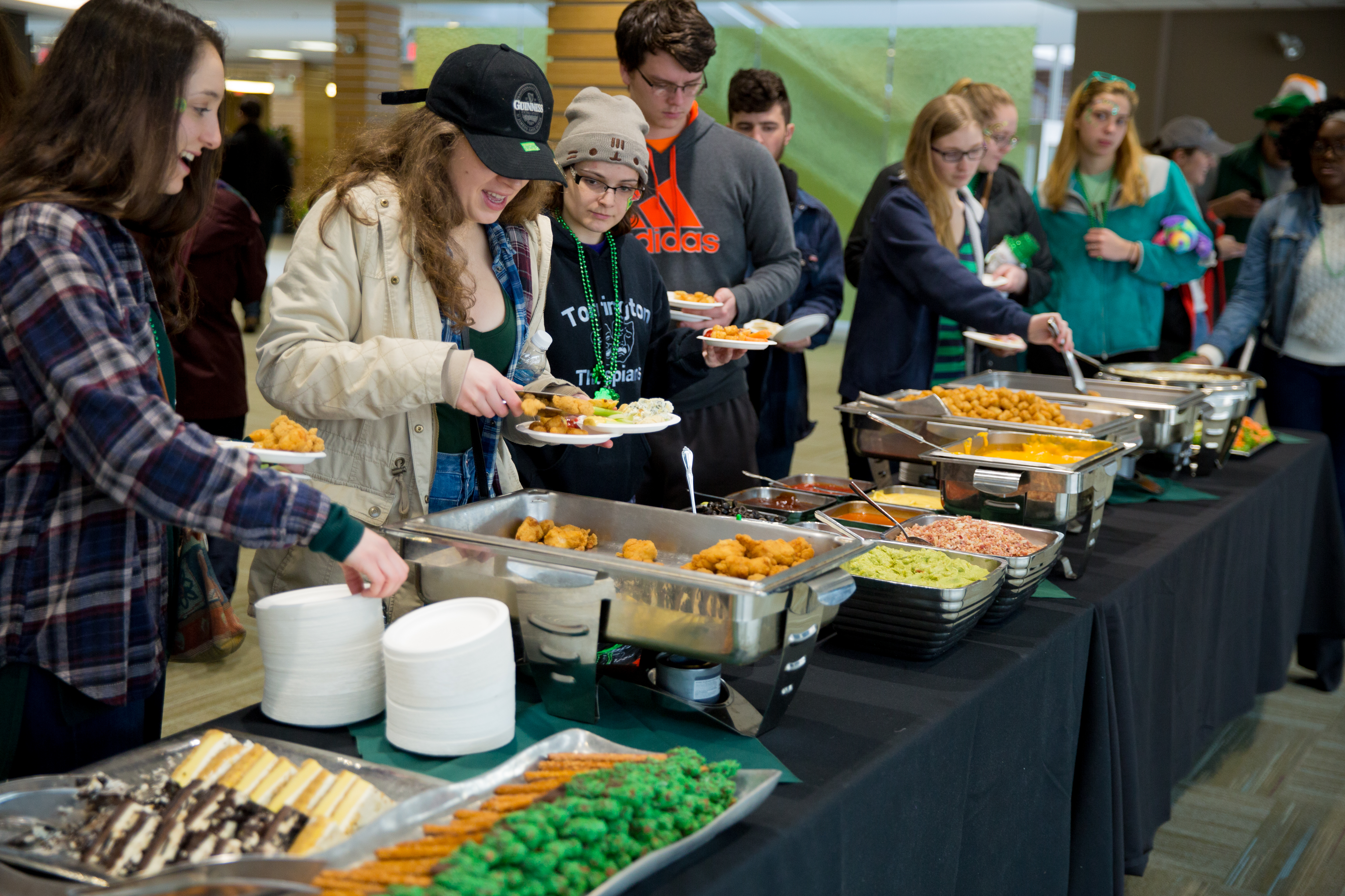 students eating an array of food at Shamrock Fest
