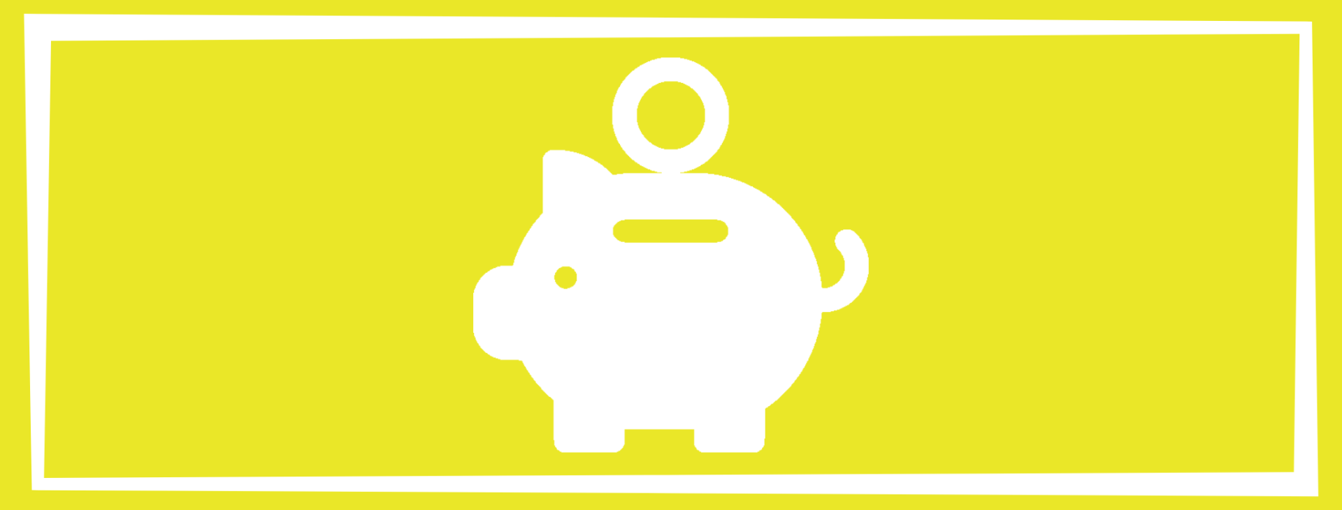financial wellness solid square with a piggy bank and coin