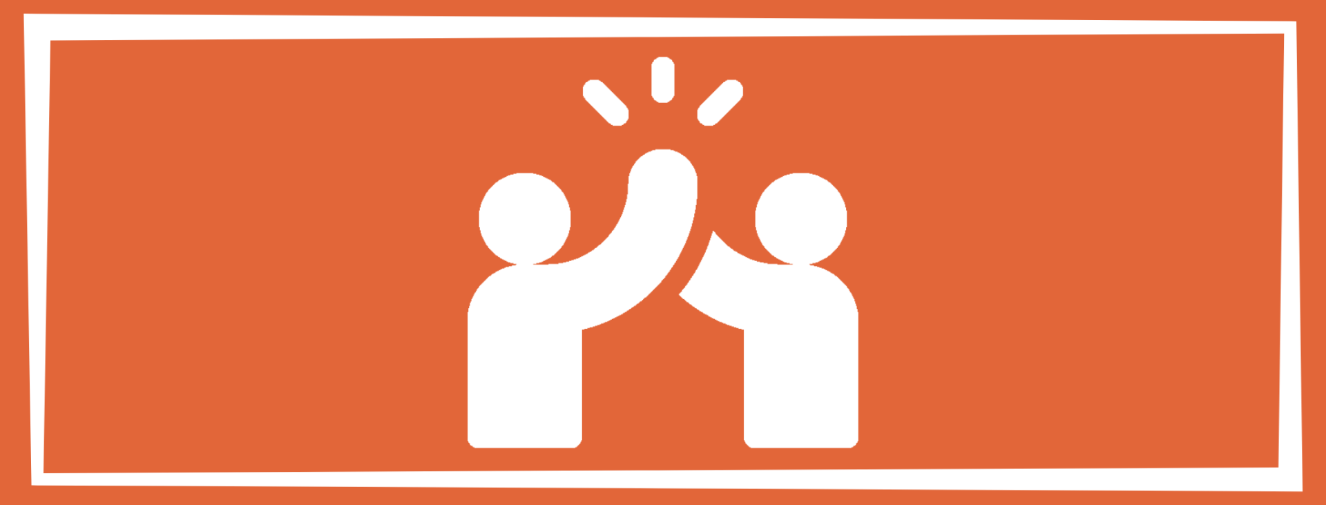 social wellness solid square with people high-fiving