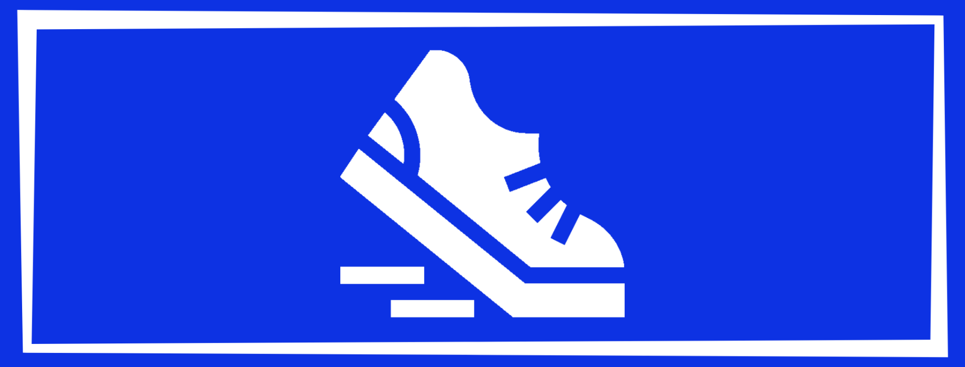 physical wellness solid square with a sneaker walking down steps