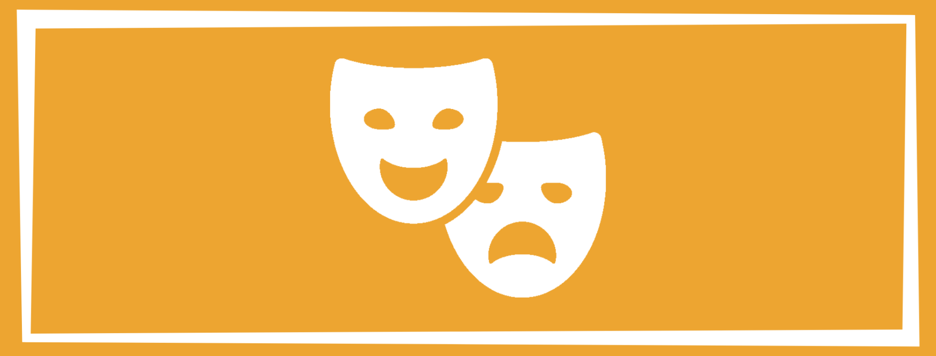 emotional wellness solid square with masks expression joy and grief