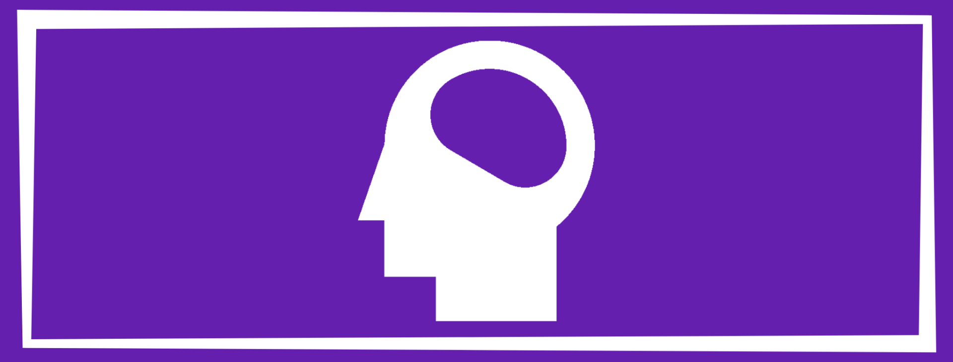intellectual wellness solid square with a person's head and brain