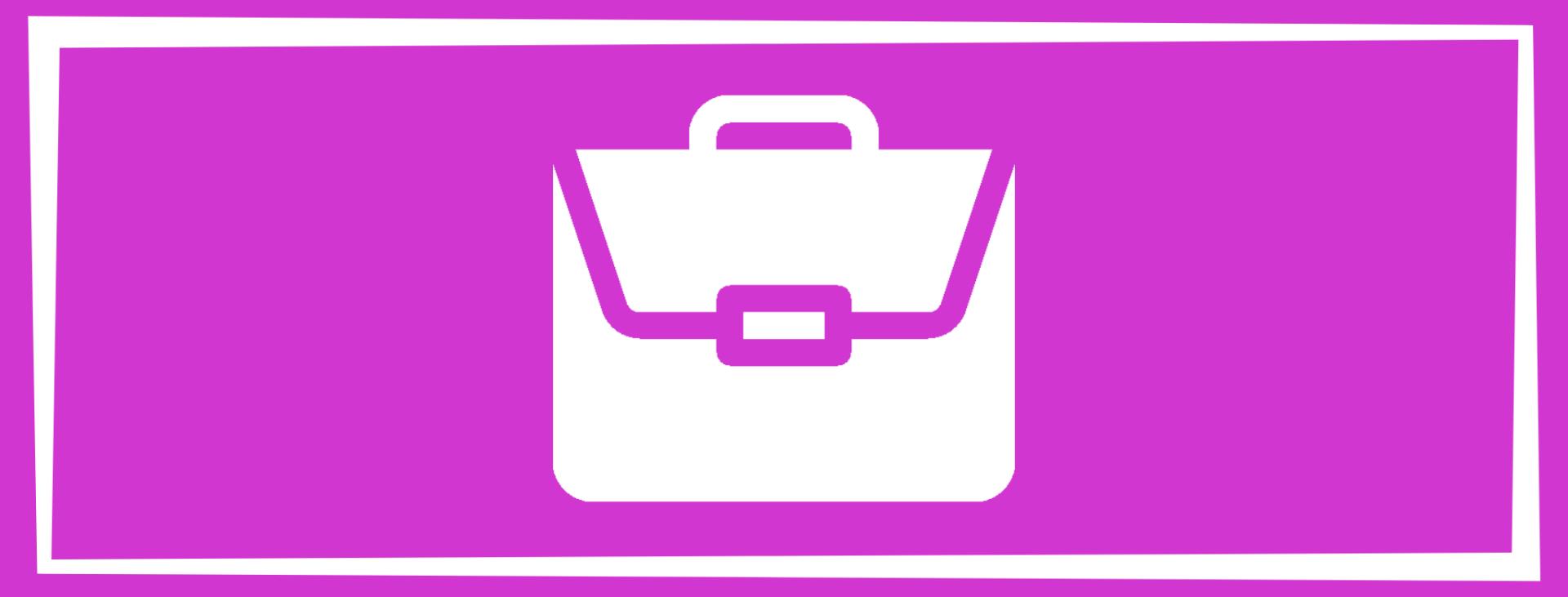 magenta color and briefcase to represent career wellness