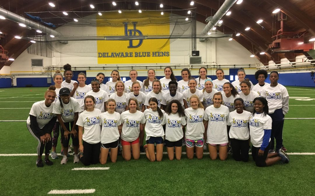 UD's XC and TF Teams Support kNOw MORE Campaign