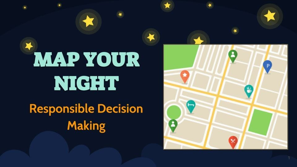 screenshot of the map your night game