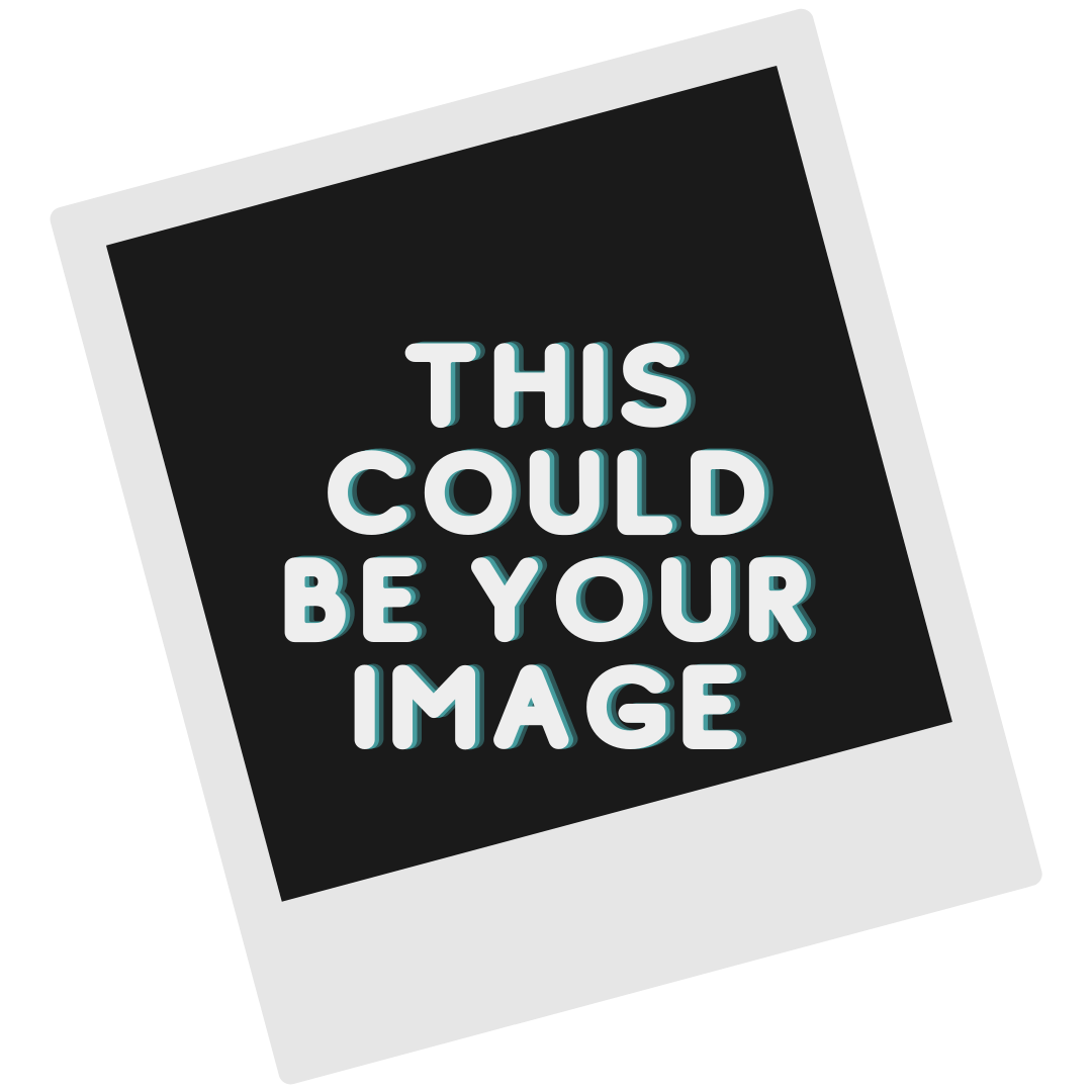 """placeholder with undeveloped polaroid and text, """"this could be your image."""""""