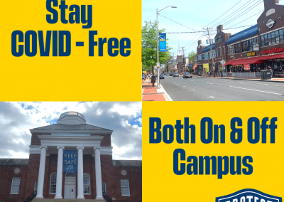 reminder to use covid safety practices on and off campus