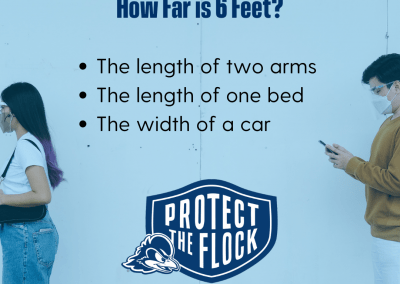 examples of 6 feet apart