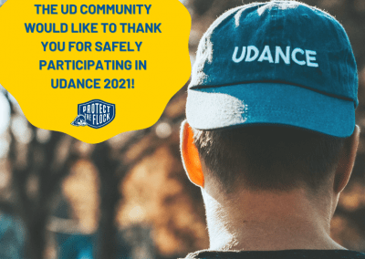 post thanking the UD community for UDance donations