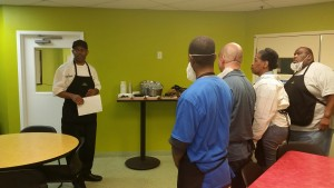 Learning about the culinary program at William Penn High School