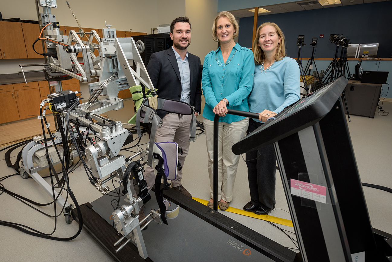 researchers with their equipment