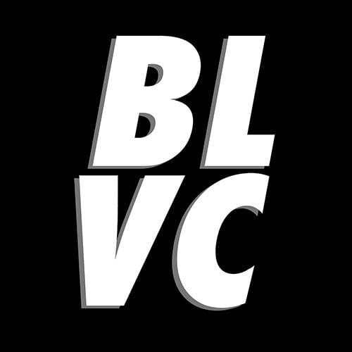 A black background with white italic text that reads B-L-V-C