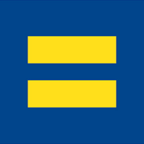 A blue background with two horizontal yellow lines reference an equal symbol