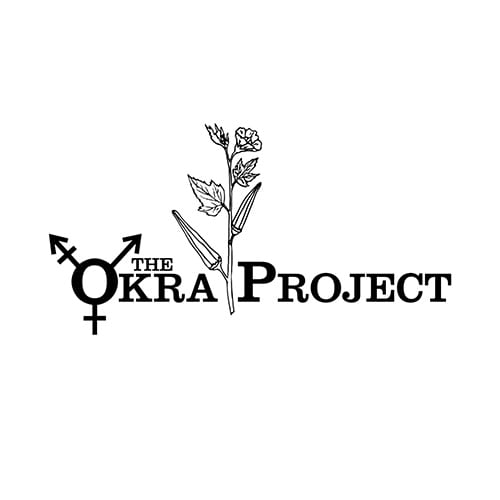 a white background with black text that reads The Okra Project