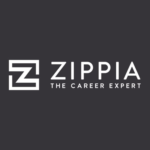 a dark gray background with white text that reads Zippier The Career Expert