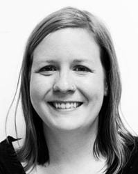 black and white headshot of Sarah Paige werner