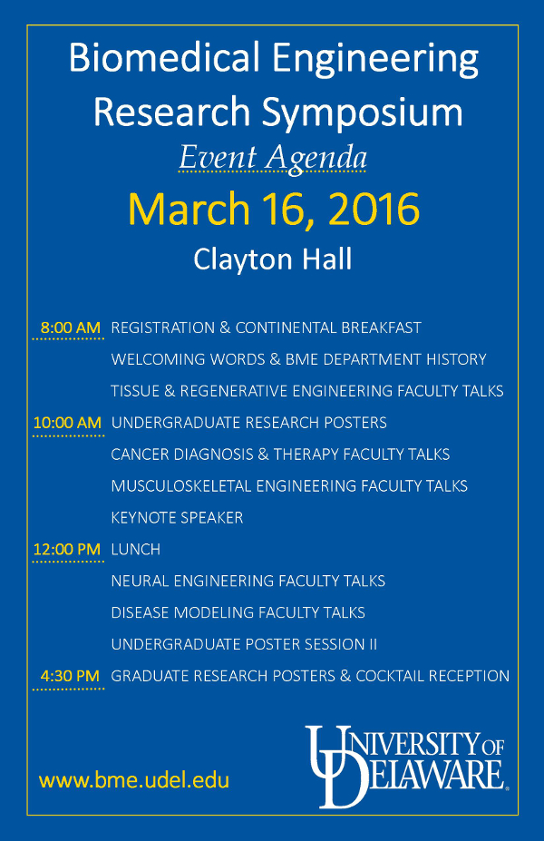BME Research Symposium March 16, 2016