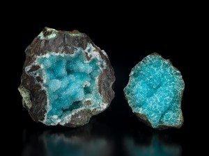 Quartz on chrysocolla Old Dominion Mine, Globe, Gila County, Arizona 3 inch x 3 ½ inch and 4 ½ inch x 5 inch