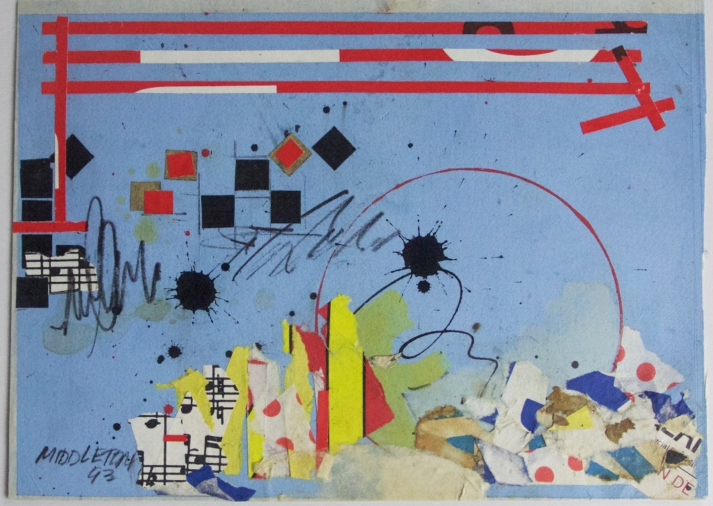 Sam Middleton, Jazz Voor Ogen, 1993. Mixed media, 7 x 9.5 in. From the Bill Hutson Collection, The Phillips Museum of Art at Franklin & Marshall College, © Estate of Sam Middleton. Courtesy of The Phillips Museum of Art at Franklin & Marshall College