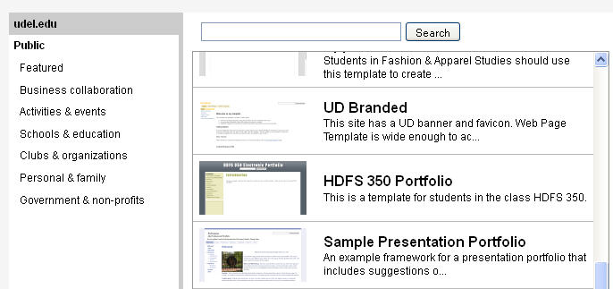 should i use a template when creating a google site for my portfolio