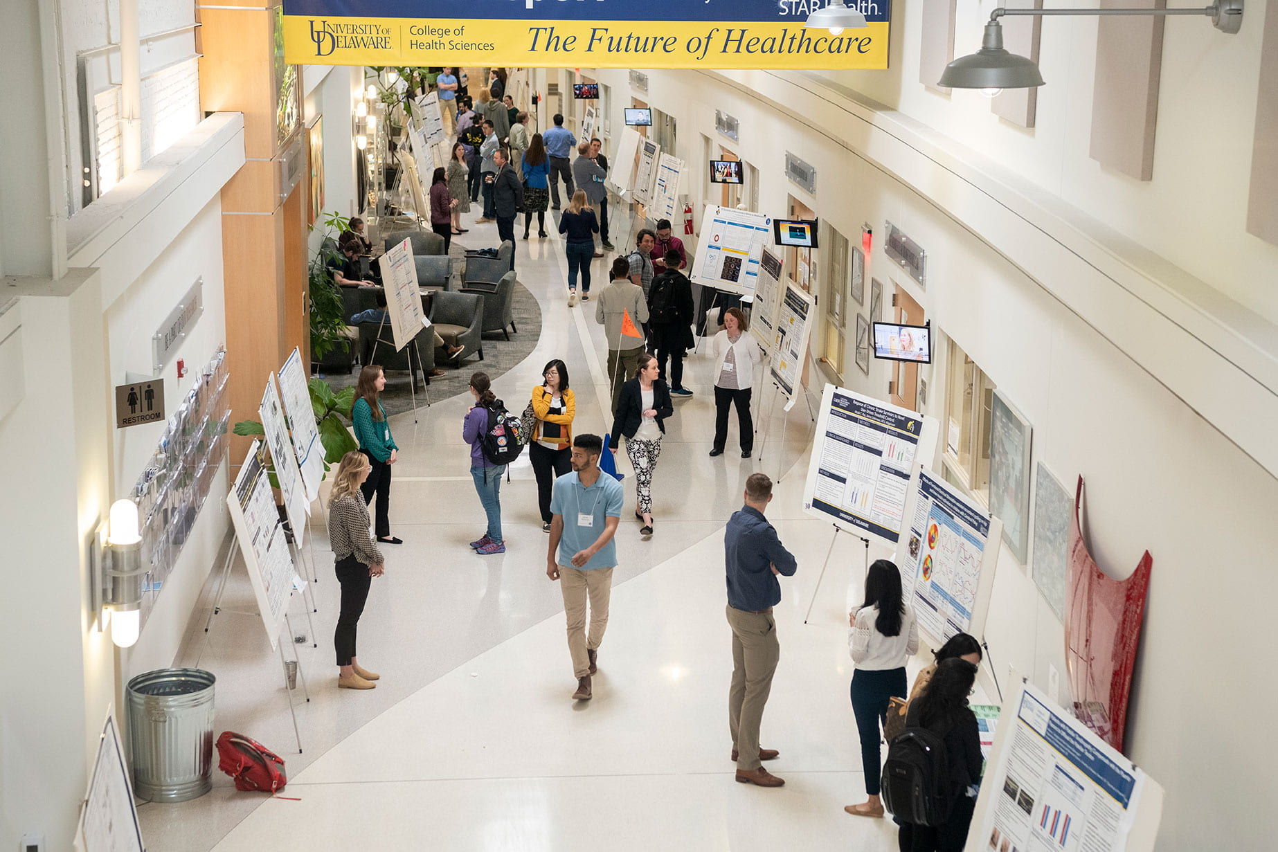 hall of student's research posters