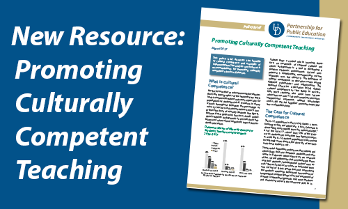 New Resource: Promoting Cultrually Competent Teaching