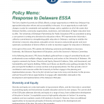 Image of first page of ESSA policy Memo