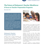 The Future of Delaware's Teacher Workforce: A Focus on Teacher-Preparation Programs