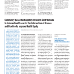 Cover of Community-Based Participatory Research Contributions to Intervention Research: The Intersection of Science and Practice to Improve Health Equity