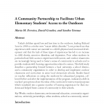 Cover of A Community Partnership to Facilitate Urban Elementary Students' Access to the Outdoor