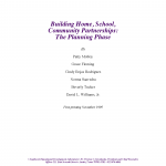 Cover for Building Home, School, Community Partnerships: The Planning Phase