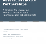 Cover of Research Practice Partnerships: A Strategy for Leveraging Research for Educational Improvement in School Districts