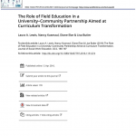 Cover of The Role of Field Education in a University-Community Partnership Aimed at Curriculum Transformation