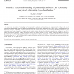 Cover of the article Towards a better understanding of partnership attributes: An exploratory analysis of relationship type classification