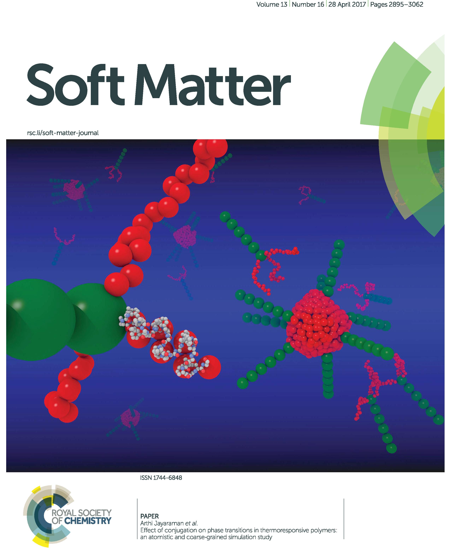jayaraman research group selected by soft matter journal