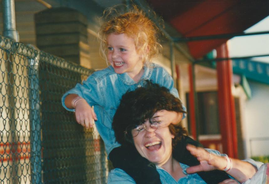 The author c  1997 with Momma Harrington